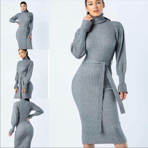 NEW ITEM ‼️‼️‼️‼️‼️GRAY SWEATER DRESS 😍😍